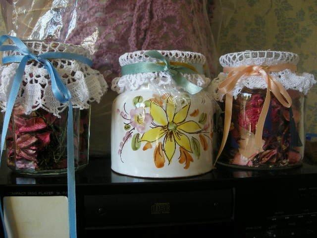pots fleurs sechees