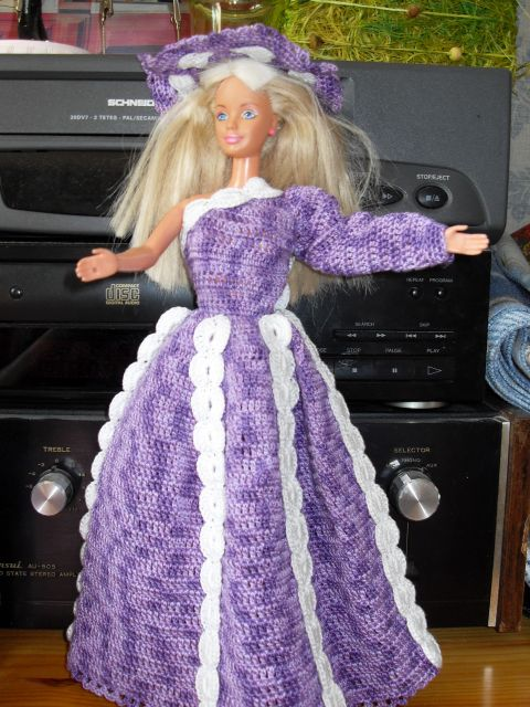 robe mauve barbie